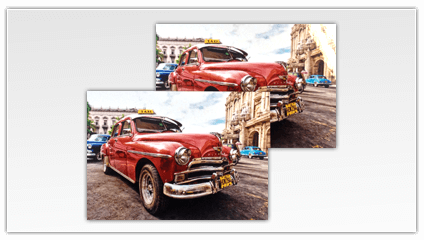 Glanzende of matte foto op plexiglas