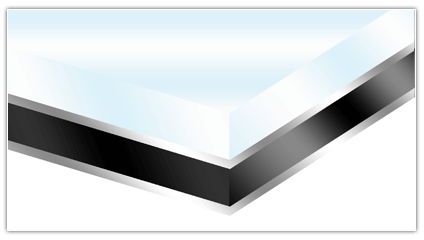Technische weergave van foto op plexiglas