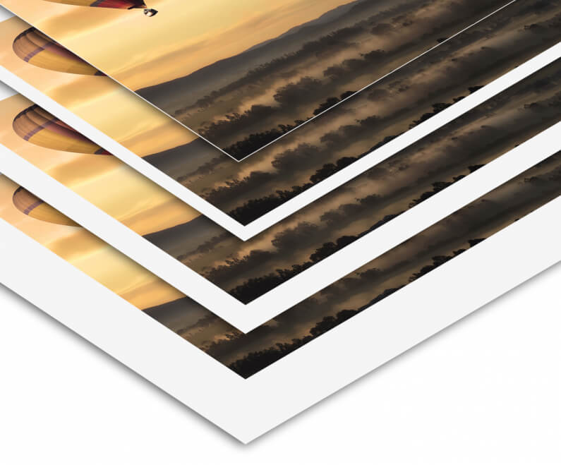 fotoafdruk velvet zonder of met witte rand