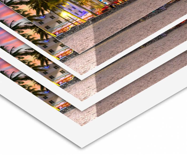 fotoafdruk duratrans zonder of met witte rand