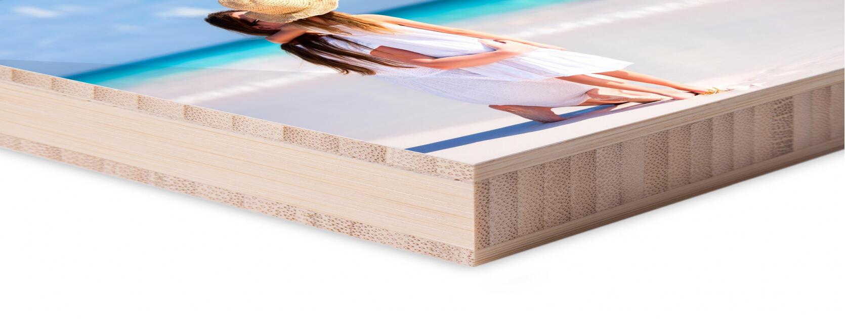 hoek foto op hout glans