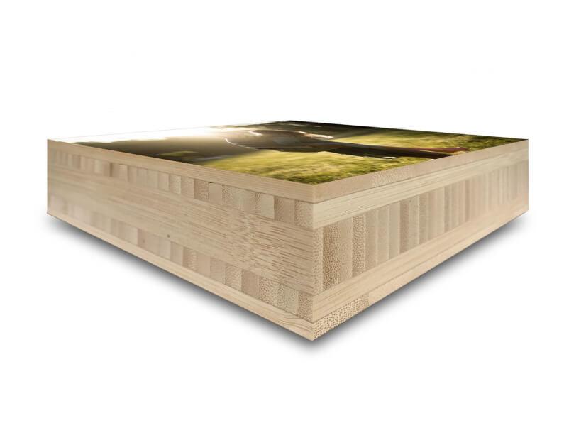 40mm foto block op hout glans